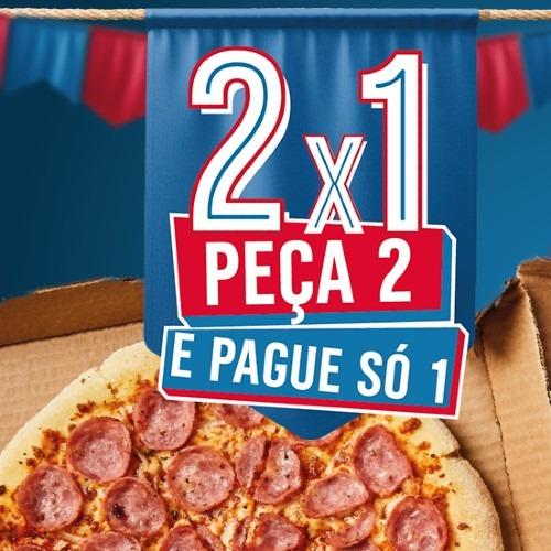 Pizza em dobro na Domino's